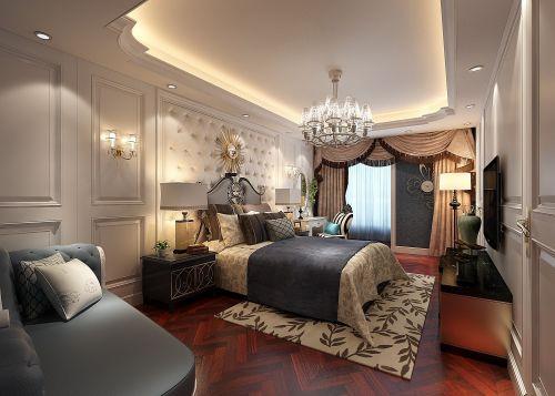 简欧风格五居室卧室床装修图片