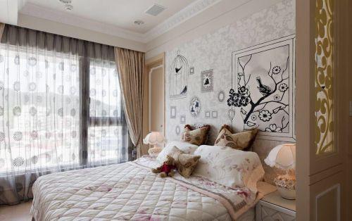 简欧风格六居室卧室灯具装修效果图大全