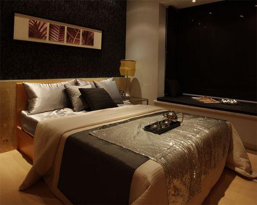 简欧风格二居室卧室吊顶装修图片