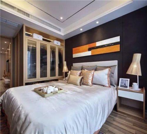 简欧风格三居室卧室床装修效果图大全
