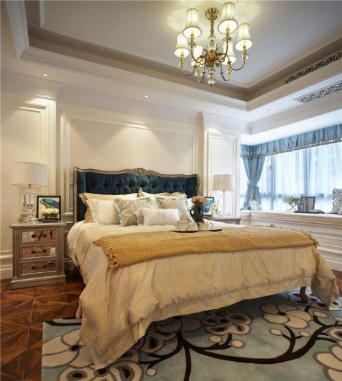 简欧风格三居室卧室灯具装修效果图大全