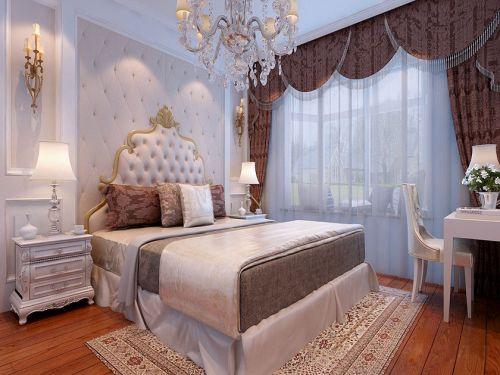 简欧风格四居室卧室背景墙装修效果图