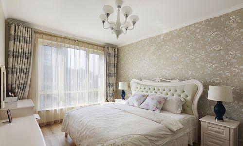 簡歐風格三居室臥室飄窗裝修效果圖