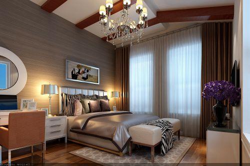 简欧风格二居室卧室壁纸装修图片