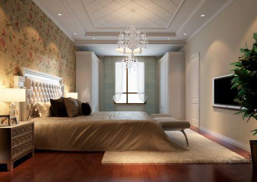 简欧风格四居室卧室飘窗装修效果图大全