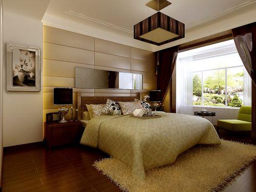 新中式风格三居室卧室装修效果图欣赏