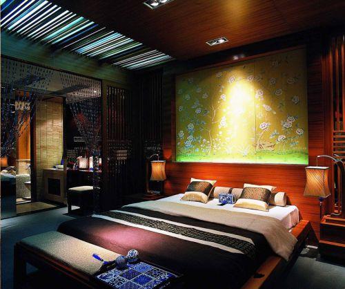 现代新中式典雅卧室设计效果图
