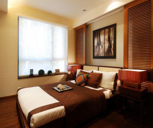 上海滩花园中式古典风格次卧床装修效果图