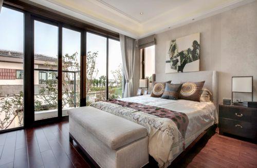 中式风格四居室卧室飘窗装修效果图欣赏