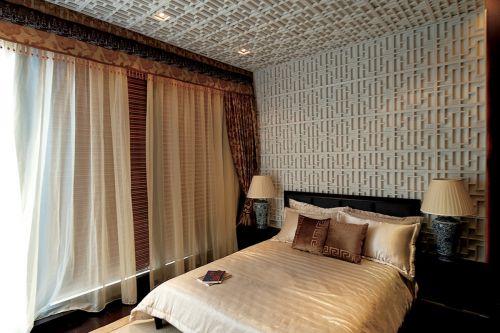 中式风格四居室卧室装修图片