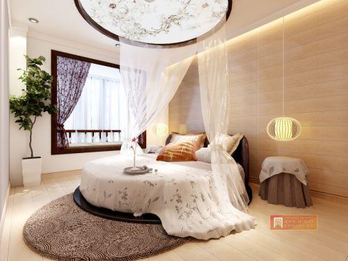 中式风格四居室卧室床装修效果图欣赏