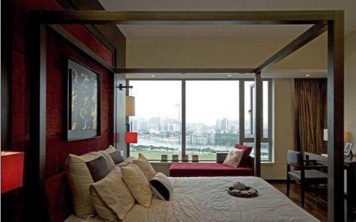 中式风格一居室卧室装修图片