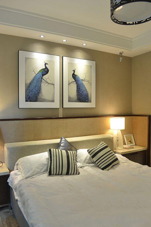 时尚中式风格三居室卧室装修案例