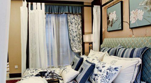 中式风格二居室卧室装修图片