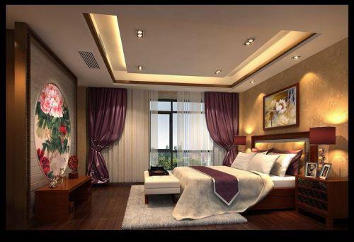 中式古典四居室卧室装修图片