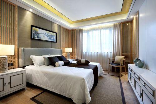 时尚淡雅中式风格卧室装修图片