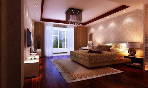 中式古典三居室卧室吧台装修效果图大全