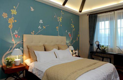 中式古典五居室卧室装修效果图