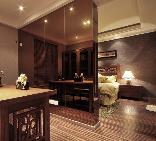 中式风格三居室卧室装修效果图欣赏