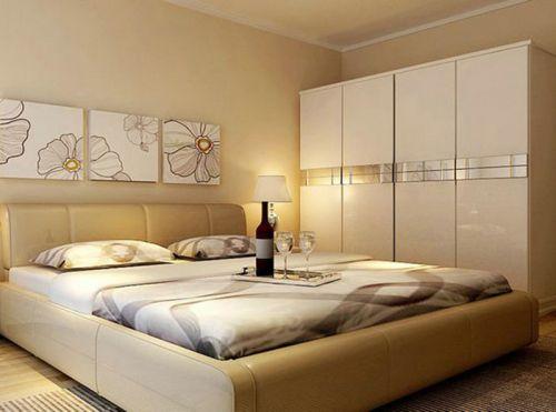 中式风格三居室卧室组合柜装修效果图欣赏