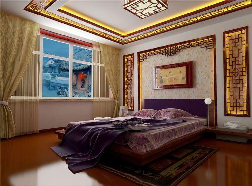 中式古典四居室卧室吊顶装修效果图欣赏