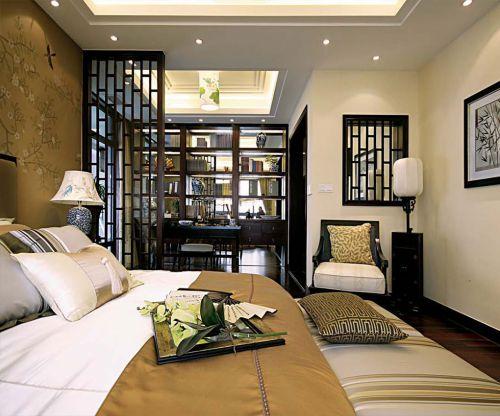中式风格二居室卧室组合柜装修图片