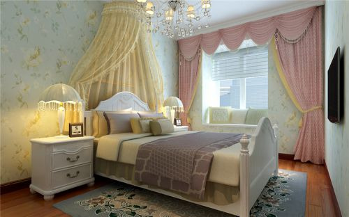中式古典二居室卧室榻榻米装修效果图大全