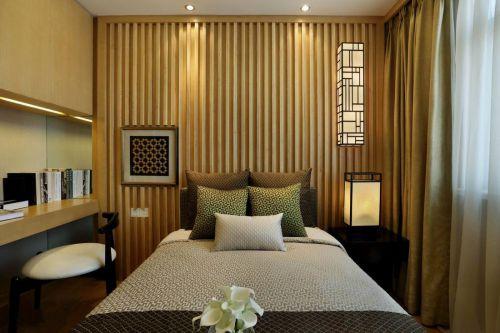 家装中式风格卧室背景墙装修效果图