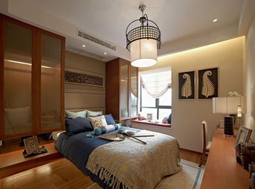 气质温润中式风格卧室装修实景图