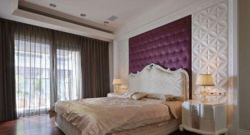 家装欧式风格卧室床头软包背景墙效果图