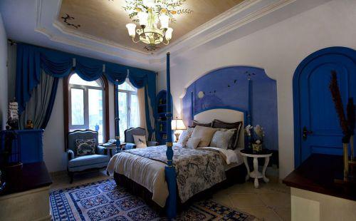 唯美欧式风格别墅卧室背景墙效果图欣赏
