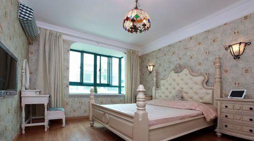 时尚欧式风格卧室壁纸装修案例