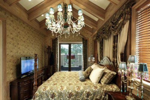 艺术气质奢华欧式风格卧室装修实景图