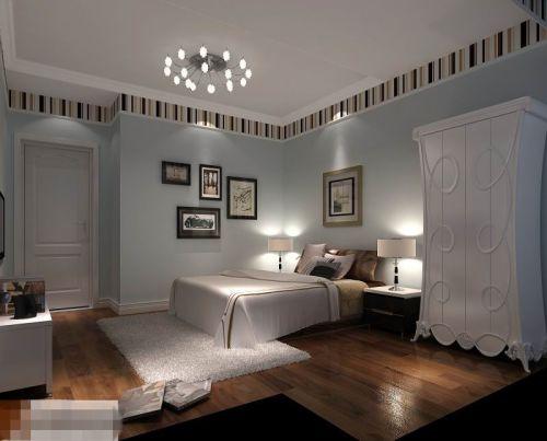 欧式四居室卧室吊顶装修图片