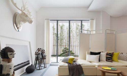 四居室大户型简约欧式卧室床装修效果图