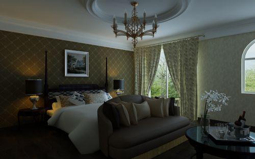 欧式风格二居室卧室床头柜装修效果图欣赏