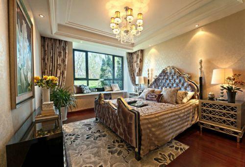 古典欧式三居室卧室装修效果图大全