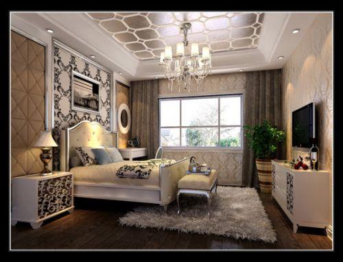 欧式古典三居室卧室装修效果图欣赏