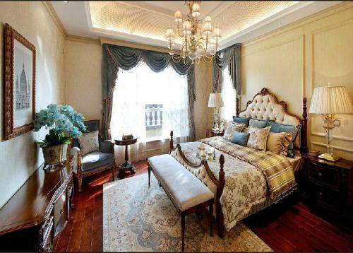 欧式风格三居室卧室装修效果图大全