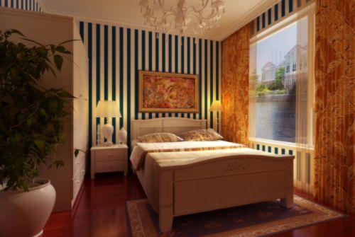 欧式古典三居室卧室装修效果图