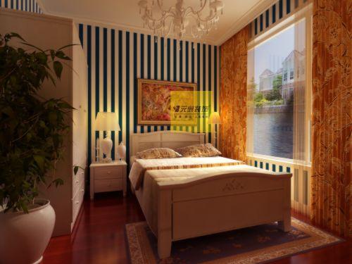 欧式田园三居室卧室装修图片欣赏