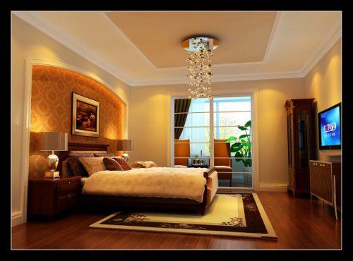 欧式新古典三居室卧室装修效果图大全
