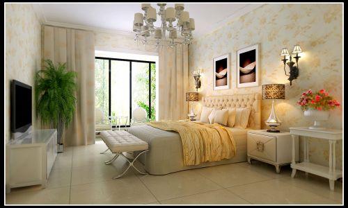 欧式三居室卧室装修效果图大全