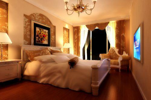 现代欧式二居室卧室装修效果图