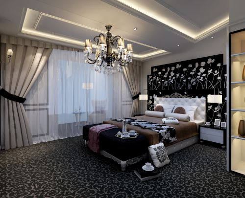 欧式,华丽,清新四居室卧室装修效果图欣赏