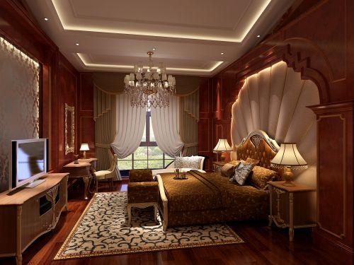 欧式,简约,清新四居室卧室装修效果图大全