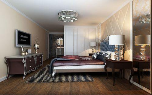 欧式新装饰风格三居室卧室装修效果图