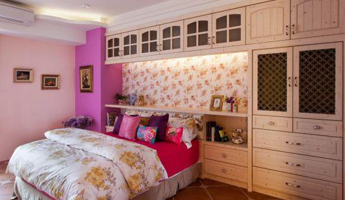 舒适温情田园风格卧室床装修效果图
