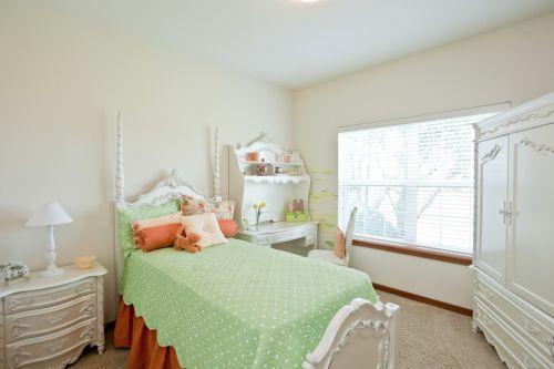 田园小清新风格小型卧室装修效果图大全