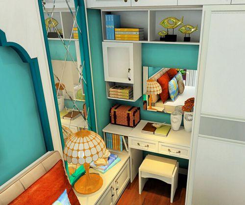 田园风格三居室卧室梳妆台装修图片